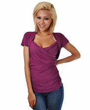 New  Maroon Women's Stretch Top Blouse - Large
