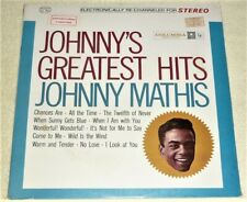 "(1) ""STILL SEALED"" & (1) ""SIGNED"" VINYL LP by JOHNNY MATHIS"