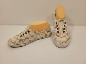 Cute! Womens COACH - KATIE Slip-On Sneakers - Size US 6 M