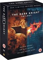 DARK KNIGHT - TRILOGY COMPLETE COLLECTION BOX SETBATMAN BEGINS RISES NEW UK DVD
