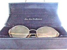 COLLECTIBLE LU LU  CABANA EYE GLASS HARD CASE AND EYE GLASSES