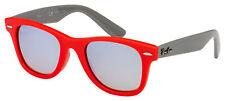 Ray-Ban Junior Gafas de sol RJ 9066S 7040B8 47 Rojo/Gris | Espejo de Plata/Marrón