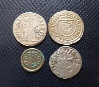 HUNGARY / 4 x MEDIEVAL SILVER COINS LOT 1./ 1100 -1600 years