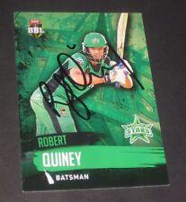 Rob Quiney (Australia) signed Melbourne Stars BBL Card + COA