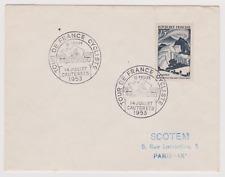 lettre enveloppe TOUR DE FRANCE 1953 11ème ETAPE CAUTERET LUCHON PYRENNEES 65