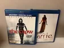 Lot of 2 Drama/Thriller Blu-Ray Movies: The Crow/Carrie (#42)