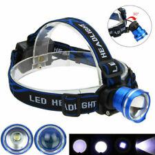5000LM Zoomable HeadLamp Adjustable Focus Headlight T6 LED Head Torch Waterproof