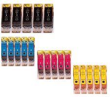 20 Tinte Patronen für Canon PIXMA IP4200 IP4300 IP4500 IP3300 IP5200R MP520