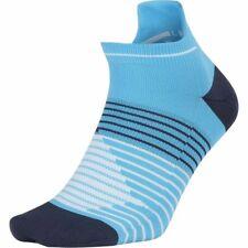 NEW Nike Elite Cushioned No Show Socks Size UK 8-11 BLUE NAVY