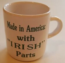 """Children's Child Mug Small Cup - Made in America: with """"IRISH"""" Parts  NEW!"""