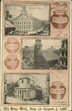 Boston MA Bean Pot Multi View 1907 Old Home Week Postcard