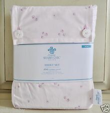 Rachel Ashwell Simply Shabby Chic Pink Rose KING Sheet Set NEW Ditsy Rosebuds