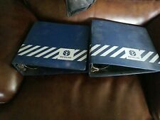 2 New Holland Tractor Machinery 3 Ring Parts Service Manual Binder 3 Blue Empty