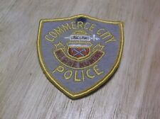 CR15) Vintage Felt Commerce City Colorado Police Patch
