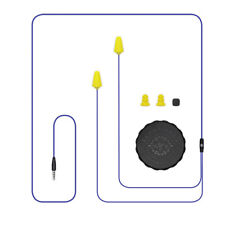 Plugfones Guardian, Earplugs with Audio, Earplug Headphones, NRR 26 dB, Yellow