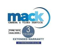 Mack 3 Year Extended Warranty (#1013) For Photo Lens Under $5000