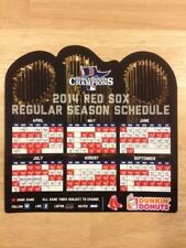 BOSTON RED SOX 2013 WORLD SERIES CHAMPIONS 2014 SCHEDULE MAGNET DUNKIN DONUTS