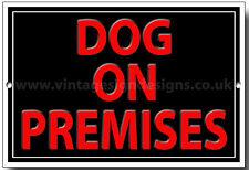 DOG ON PREMISES METAL SIGN,WARNING,SECURITY SIGN.DOG WARNING SIGN.