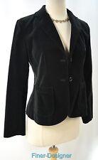 GAP black dress blazer velvet jacket purple lined suit coat 2 button SZ 2 S NEW