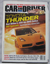 Car & Driver magazine 11/2000 featuirng Saleen S7, Mercedes, Honda