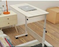White Height Adjustable Notebook Laptop Computer Desk Portable Table Stand Sofa