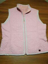 Woolrich Women's Large Blush Polyester & Faux Vest Reversible