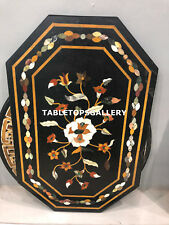 3'x2' Black Marble Office Table Top Inlay Best Quality Mosaic Patio Decor E132