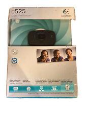 Logitech C525 Foldable HD Web Cam 720p - Open Box. NO DISC.