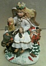 "Christkindli ~ Liechtenstein Resin Angel ~ Donkey Bearing Gifts  4.5"" x 3.5"""