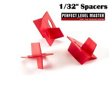 """1/32"""" PERFECT LEVEL MASTER Quality 3 side tile spacers - Cross and T Floor wall"""