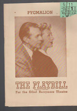 Pygmalion Playbill April 1946 Gertrude Lawrence Raymond Massey