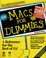 MACS for Dummies Reference Book by David Pogue 1992 Vintage