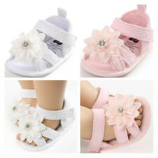 Sweet Pearl Princess Baby Girl Crib Shoe Infant Floral Dress Shoe Summer Sandals