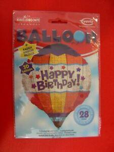 Palloncino Mongolfiera 3D Happy Birthday