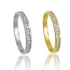 Anillos de joyería con diamantes alianza de oro amarillo