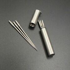 1PC Titanium Alloy Toothpick Waterproof Bold Toothpick Holder Outdoor Travel