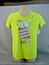 2016 Disneyland Dumbo Double Dare 19.3 Miles Lime Green T-Shirt XLarge NEW
