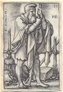 Hans Sebald Beham. Simon 1545  Kupferstich Pauli 55 Nürnberg Engraving Apostel