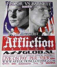 Fedor Emelianenko & Josh Barnett Signed Affliction MMA 18x24 Poster PSA/DNA UFC