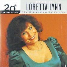 20th Century Masters - The Millennium Collection: The Best of Loretta Lynn by Loretta Lynn (CD, Aug-1999, MCA)
