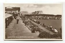 Hastings - White Rock Bowling Greens - 1944 used real photo postcard