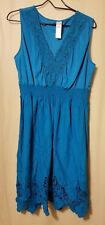 Avon - Teal  Lace And Cutwork Dress Size XL      *KT15/