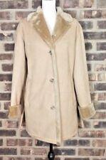 Fleet Street Women's Jacket Shearling Faux Fur Coat Brown Tan size Medium