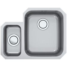 Astracast Sharp 1.5 Bowl Stainless Steel Undermount Kitchen Sink Left Hand  B58