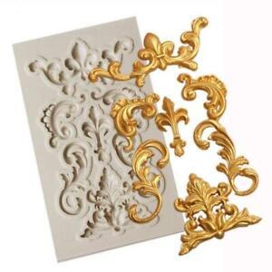 Baroque Lace Silicone Fondant Mould Cake Border Decorating Sugar Paste Mold