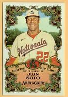 2020 Allen and Ginter Boxloader Rip Cards Ripped-26 Juan Soto Nationals ID:56713