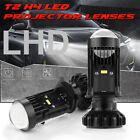 Car H4 9003 LED Mini Bi LED Projector Lens Hi/Lo Headlight 100W 6000K Retrofit