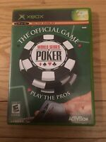 WORLD SERIES OF POKER OFFICIAL GAME - XBOX - COMPLETE W/MANUAL - FREE S/H (T)