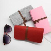 Eyeglass Case Pouch Portable Soft Felt Sunglasses Glasses Case Zipper new type