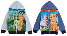 Disney The Lion King Boys Hooded Jacket Kids Simba Full Zip Hoodie Hoody Jumper